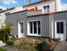 Extension ossature bois à La Rochelle