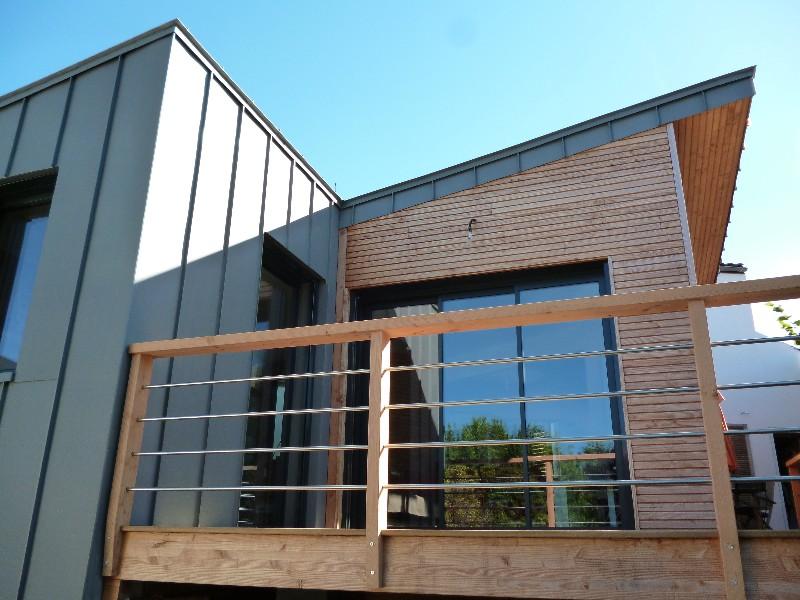bois et zinc bardage zinc sur ossature bois extension bois